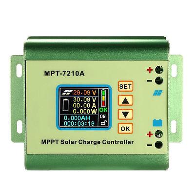 LCD MPPT Solar Regulator Charge Controller 24/36/48/60/72V 10A 60V DC-DC Boost