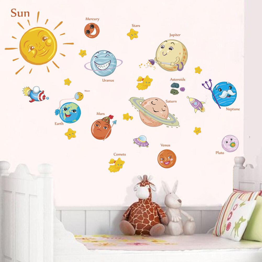 "Home Decoration - Kids/Nursery Room Decor Removable Wall Sticker Home Decor  ""Solar System"""