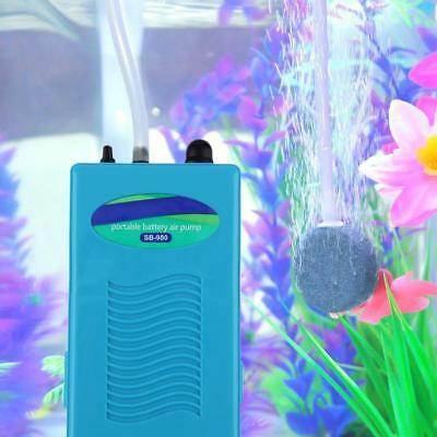 Blue Battery Operated Air Pump 2L/MIN Oxygen Pond Backup For Aquarium Fish Tank
