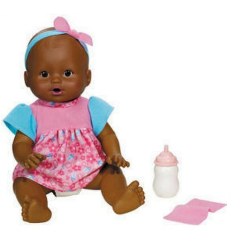 Fisher Price Little Mommy Wipey Dipey Black Doll Sounds
