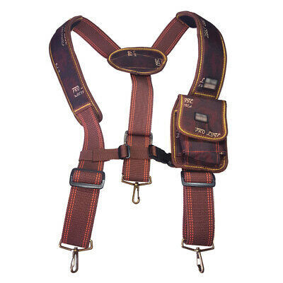 Electrician Carpenter Technician Work Organizer Tool Belt Suspenders Phone Pouch