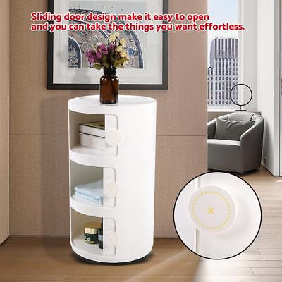 3-Layer Bathroom Floor Cabinet Storage Cupboard Shelves Free Standing with Door