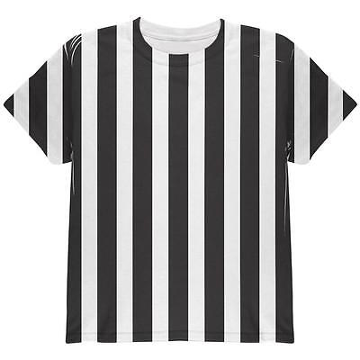Kids Referee Shirt Halloween Costume (Halloween Referee Costume All Over Youth T)