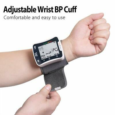 Automatic Digital Wrist Cuff Blood Pressure Monitor BP Machine Gauge Measurement