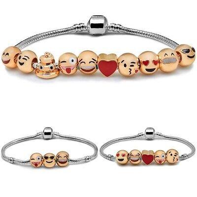 rmband Armbänder Silber Cartoon Armkette Armreif Schmuck Neu (Band Emoji)