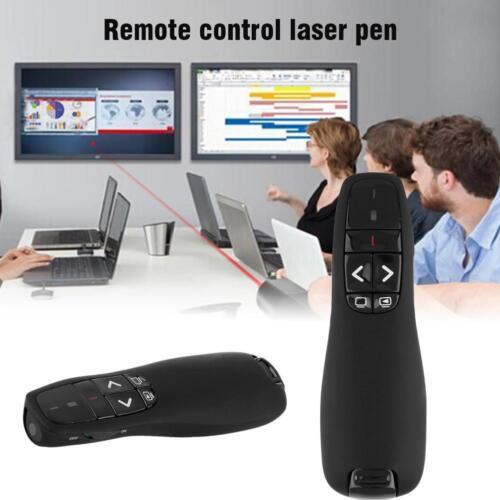 Black RF 2.4GHz R400 Wireless Professional Presenter w/Red Laser Pointer