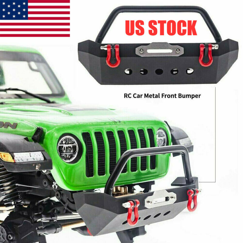Metal Front Bumper for 1/10 RC Crawler Axial SCX10 90046 Trsxxas TRX4 US STOCK