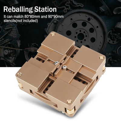 8090mm Bga Reball Reballing Rework Stencil Solder Station Kits Ht-90x Ams