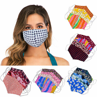 NEW 4Pcs Face Mask Washable Breathable Reusable Unisex Protective Cover Cheap Clothing