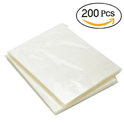 200 Pack Thermal Laminating Pouches 3 Mil Heat Seal A4 Letter Size 9x11.5 Sheets