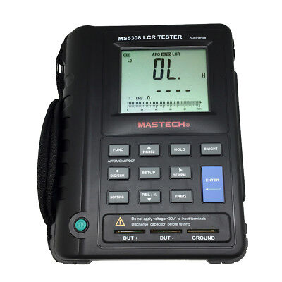 MASTECH Portable Handheld AutoRange LCR Resistance Capacitance Meter MS5308 -