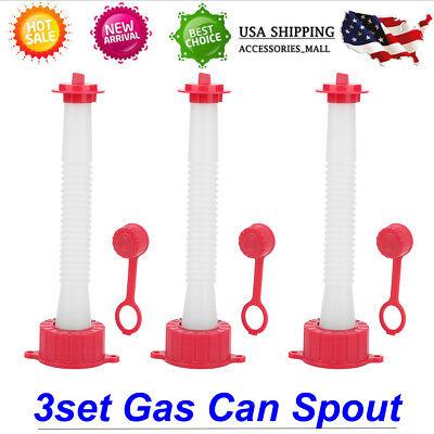 3 Replacement Spout Parts Kit For Rubbermaid Kolpin Gott Jerry Can Fuel Gas Ez