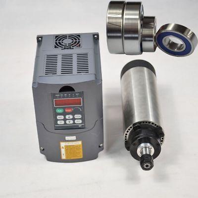 Hq 1.5kw Er11 Air-cooled Motor Spindle And 220v Inverter Drive Vfd 65mm Dia