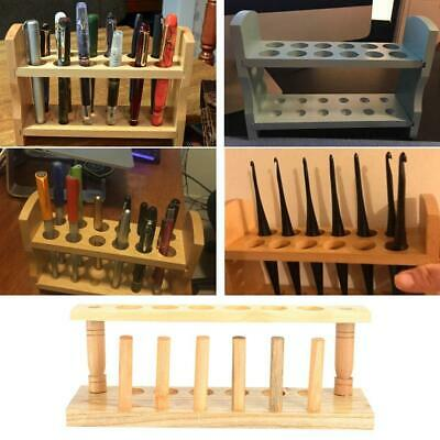 Wooden Test Tube Stand 681012 Holes With Drying Rack Practical Lab Equipment
