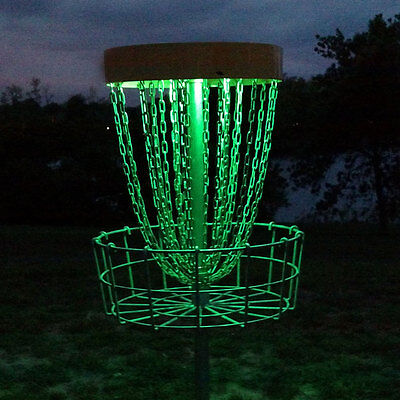 GlowCity Disc Golf Basket, Multi Colored, RC Waterproof With Remote & Batteries