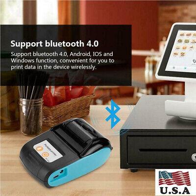 Portable Bluetooth 4.0 Thermal Receipt Printer 58mm Wireless Mobile Printer