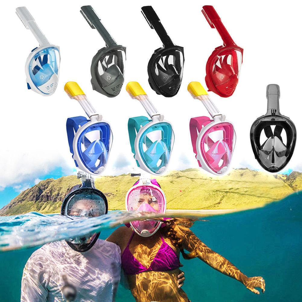 180 ° Schnorchel Maske Tauchmaske Schnorchel Set Vollgesichts Schwimmmaske DE