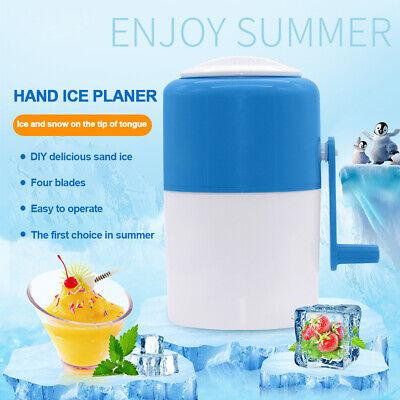 Portable Manual Ice Shaver Block Shaving Machine Crusher Snow Ice Cone Maker New