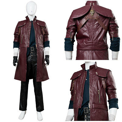 DMC5 Devil May Cry V Dante Aged Costume Cosplay Halloween Coat Outfit Full Set - Dante Dmc Halloween Costume