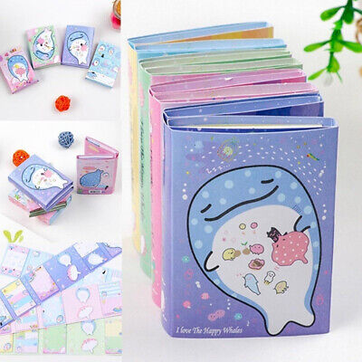 Cute Cartoon Ocean Whale Foldable Memo Pad Sticky Notes Bookmark Gift Mini Memo
