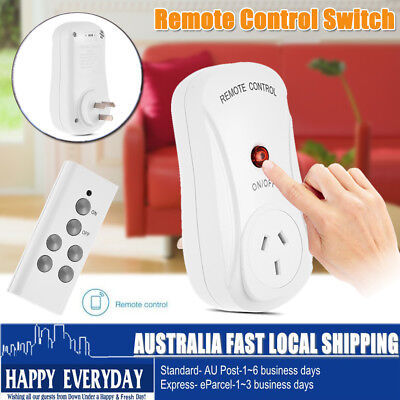 AU Smart Wireless Socket Remote Control Mains Switch Outlet Power Point AU Plug