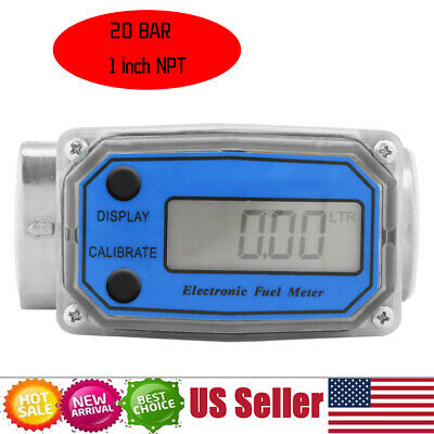 Mini Digital Turbine Flowmeter Diesel Fuel Flow Meter 15-120l 1 Npt Idm