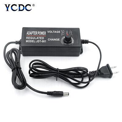 Acdc Adjustable Power Adapter Supply Plug 3-12v 3-24v 4-24v 9-24v Volt Display