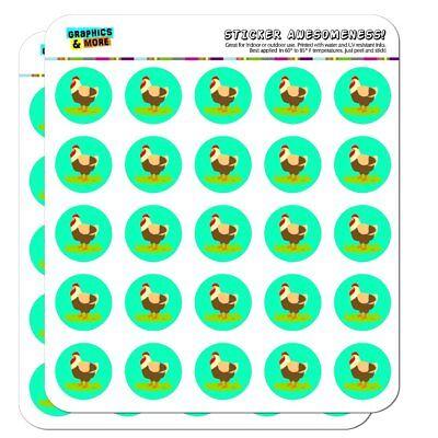 Chicken in Profile Planner Calendar Scrapbooking Crafting Stickers