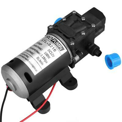 12v Dc 100w 8lmin 160psi High Pressure Diaphragm Self Priming Water Pump Us