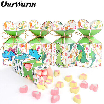 12Pcs Dinosaur Party Favor Boxes Candy Treat Bags for Birthday Party Baby Shower (Candy Bags For Baby Shower)