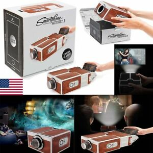 V2.0 Smartphone Projector DIY Portable Mobile Phone Theater Cinema For iPhone