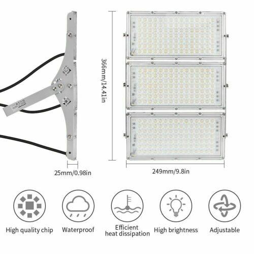 300W 200W 100W LED Flood Light Outdoor Module Spotlight Garden Yard Lamp US 1