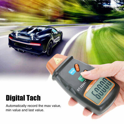 Handheld Digital Rev Counter Dt2234c Meter Non Contact Optical Tachometer Hq