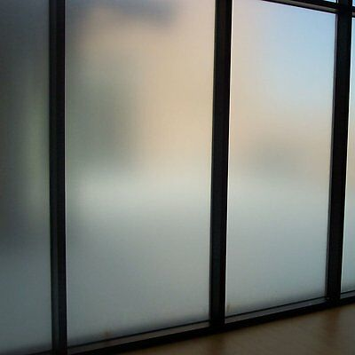 Amposei Non-Adhesive Etched Privacy Film For Glass Windows Doors 35.4 by 78.7