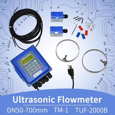 Tuf-2000b Tm-1 Ultrasonic Flowmeter Liquid Flowmeter Ip67 Protection Dn50-700mm