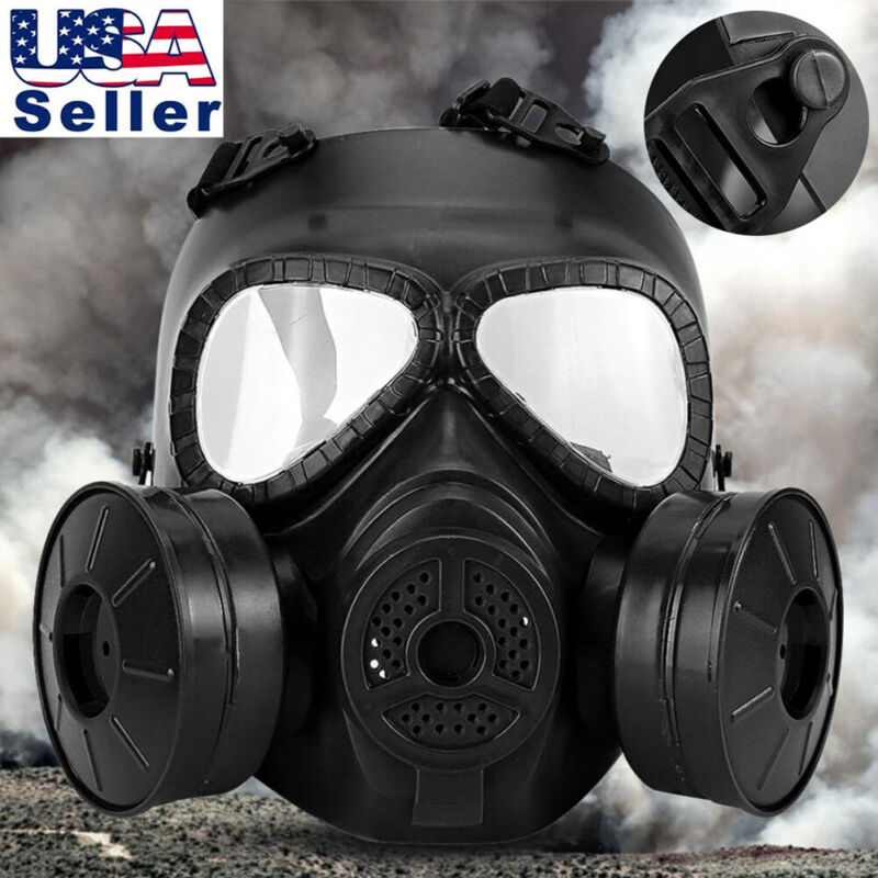 Hot Black Double Filter Face Guard Breathing Shield for protection CS Edition