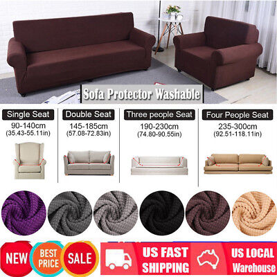 2 Seater Recliner Sofa - EASY Stretch Couch Sofa Lounge Covers Recliner 1 2 3 4 Seater Dining Chair Cover