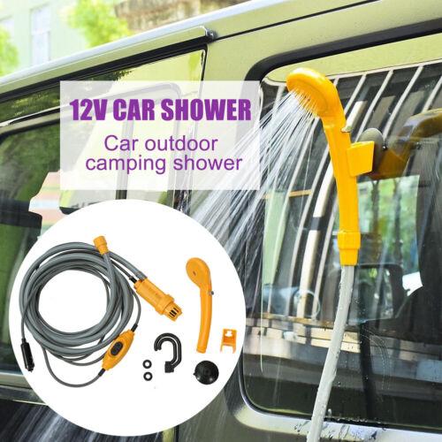 Camping Dusche 12V Brause mit Tauchpumpe 2m Schlauch für Auto KFZ Garten Outdoor