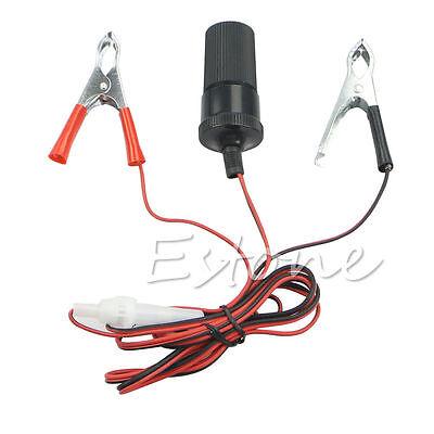 Car 12V  Battery Terminal Clip-On Cigarette Lighter Power Socket Adapter Hot