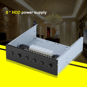 6 Channel SATA HDD Hard Drive Power Switch Controller Selector For Computre PC