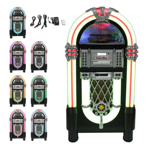 Jukebox Vintage Retro Stereo Vinyl Record Player CD FM Radio