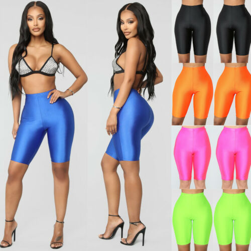 US Women Stretch Biker Bike Shorts Workout Spandex Leggings