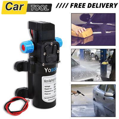 Durable 12V Water Pump High Pressure 60W 115psi  5Lpm Self-Priming Pump UK STOCK