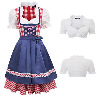 Bayerische Bier Mädchen Maid Kostüm Deutsches Oktoberfest Damen (Deutsch Bier Mädchen Kostüm)
