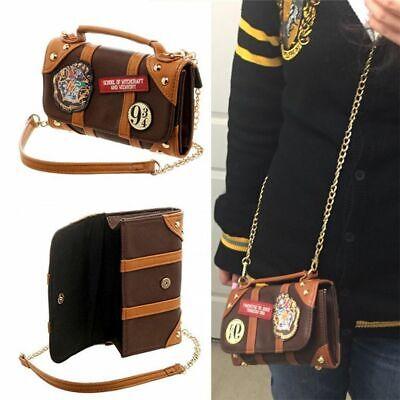 Ht Harry Potter Hogwarts PU School Badge Wallet Hand Satche Purse Shoulder Bags (Harry Potter Purses)
