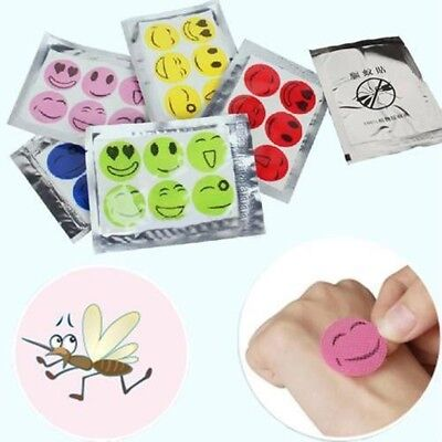 120 Pcs Smiley Insect Mosquito Natural Repellent Stickers Patches Citronella Oil ()