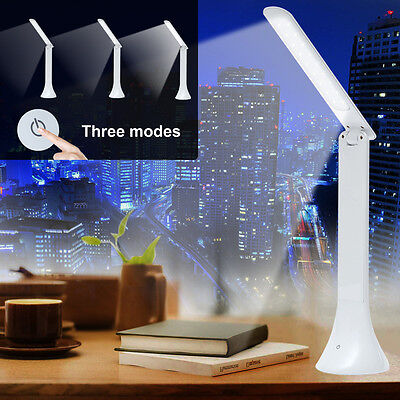 Portable Rechargeable Touch Sensor LED Desk Table Light Dimmable Foldable Lamp