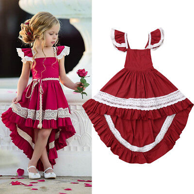 (Toddler Baby Girls Kids Party Wedding Prom Dress Christmas Princess Formal Gown)
