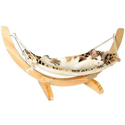 Reversible Animal Print Soft Washable Fleece Hanging Cat Hammock Kitty Bed
