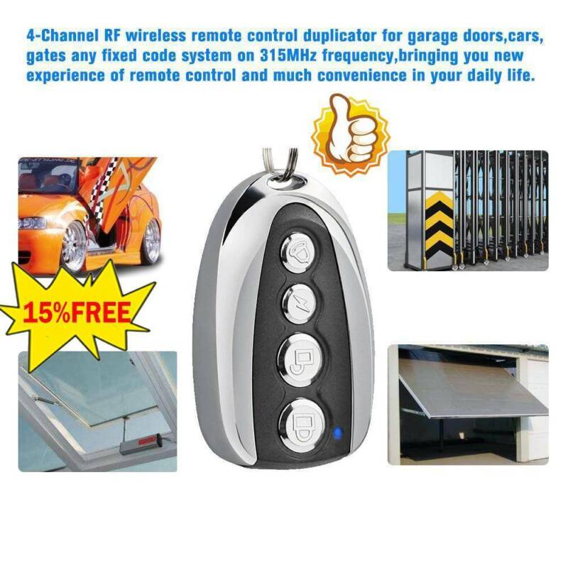 1PCS Cloning Gate For Garage Door Remote Control Duplicator 433mhz key V6M8